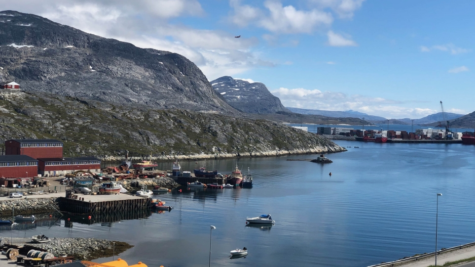 The harbor of Nuuk, Greenland's capital.