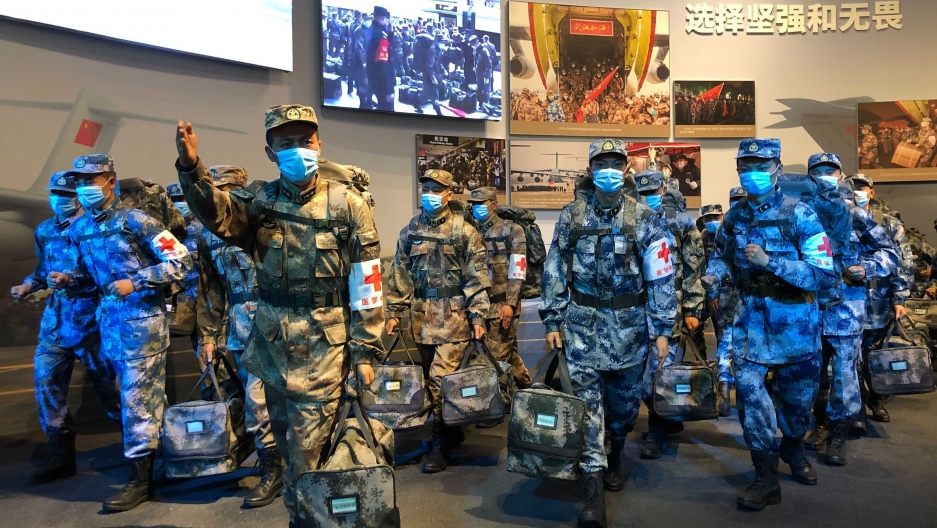 The COVID-19 Exhibition in Wuhan, China, pays tribute to soldiers.