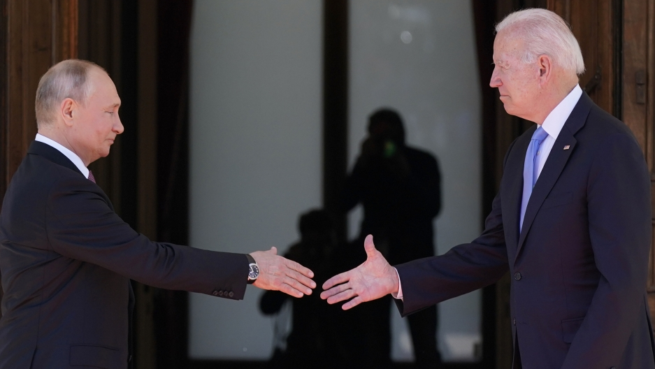 President Joe Biden meets with Russian President Vladimir Putin, Wednesday, June 16, 2021, in Geneva, Switzerland.