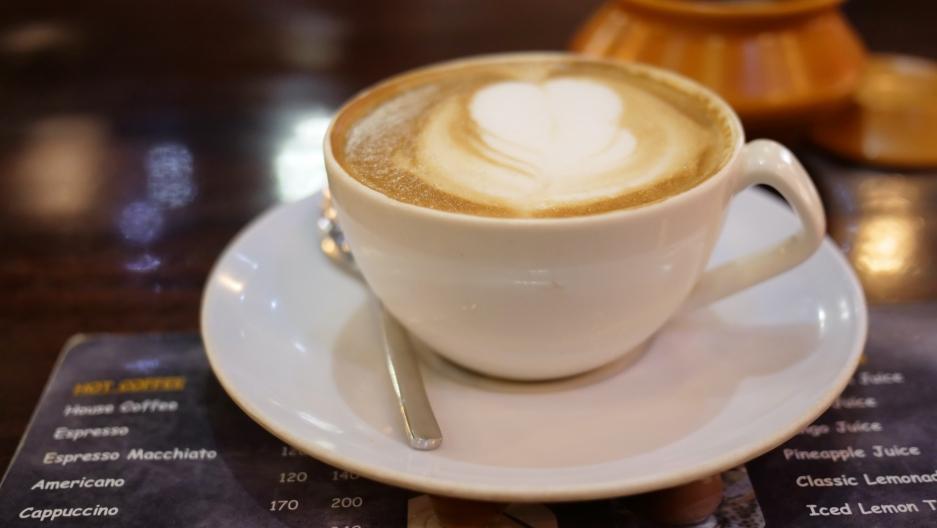 Camel milk latte