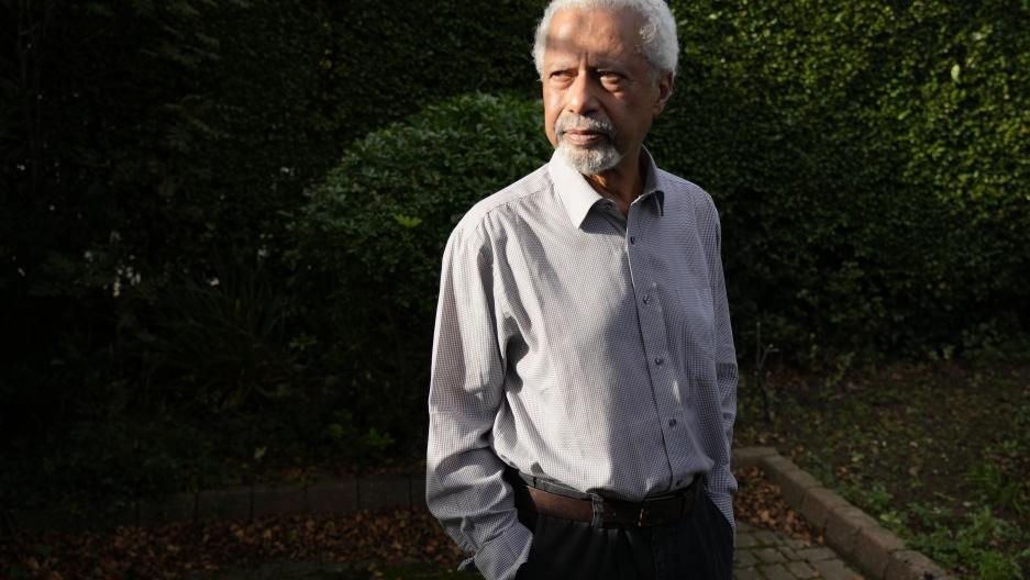 Tanzanian writer Abdulrazak Gurnah poses for a photo at his home in Canterbury, England, Thursday, Oct. 7, 2021.