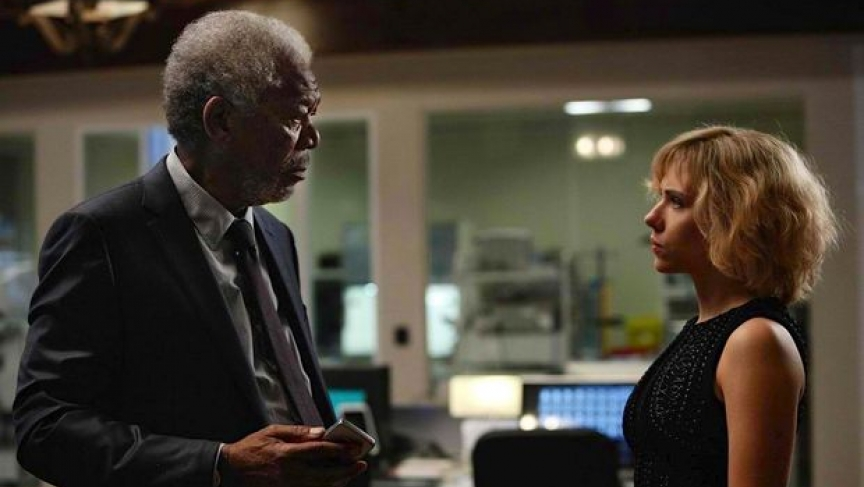 acce2a4b6696c Actors Morgan Freeman and Scarlett Johansson star in the upcoming film