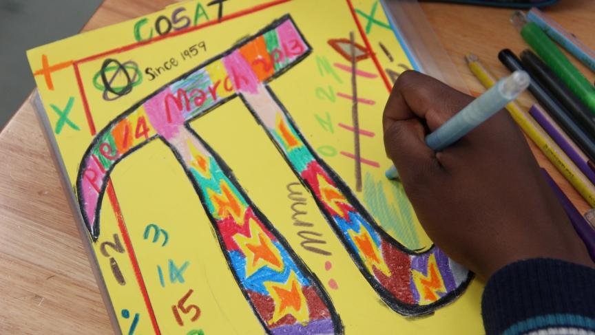 COSAT students celebrate Pi Day