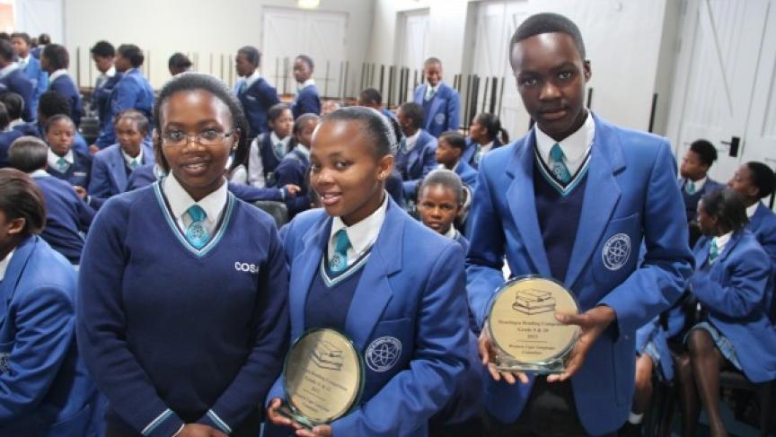 Sibonisiwe, Asiphe, and Anda won a reading contest.