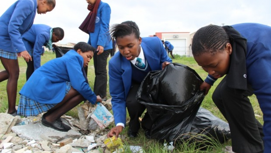 Picking Up Trash for Madiba