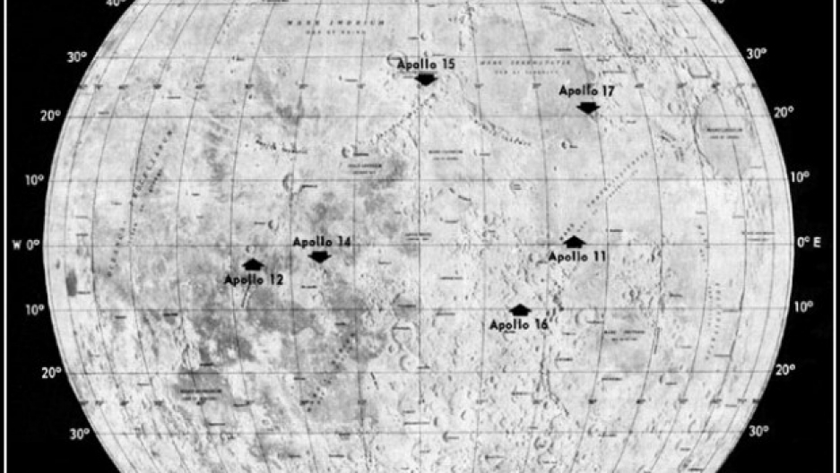 map of moon landings - photo #10