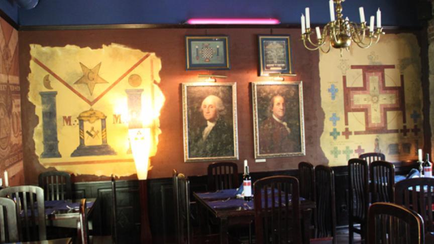 Lviv Restaurant With Free Mason Theme Photo Daniel Estrin