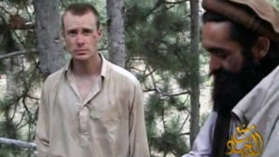 A man believed to be Bowe Bergdahl is pictured in a frame grab from a video released by the Taliban. The image was released by IntelCenter on Dec. 8, 2010.