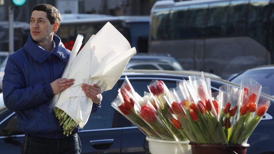 In Russia, women celebrated on International Women's Day ...
