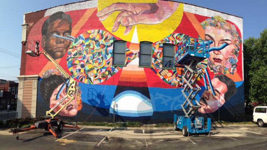 Take a peek at some of the street art murals in the city ...