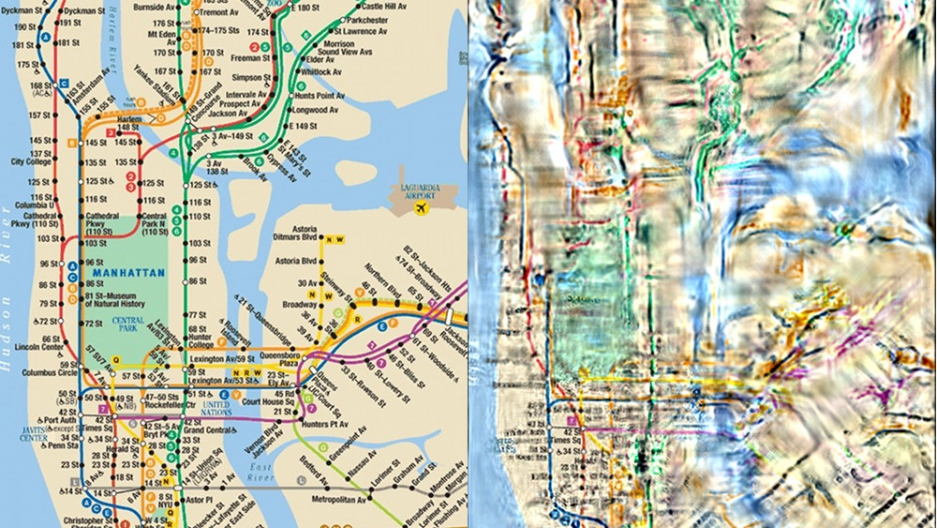 Ny York Subway Map.A Researcher Is Trying To Make Those Confusing Transit Maps Easier