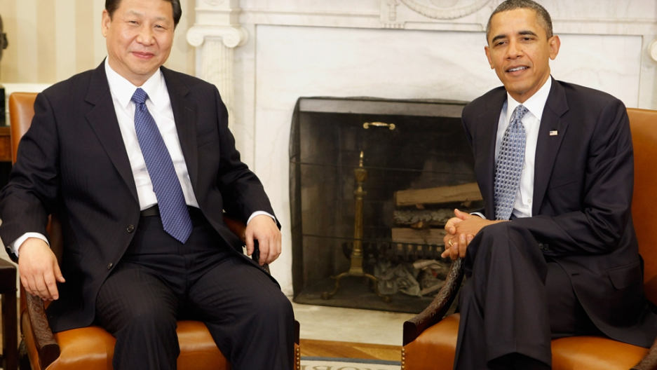 Xi jinping obama meet at white house public radio international washington dc february 14 us president barack obama r and chinese vice president xi jinping pose for photographs before meeting in the oval office m4hsunfo Image collections