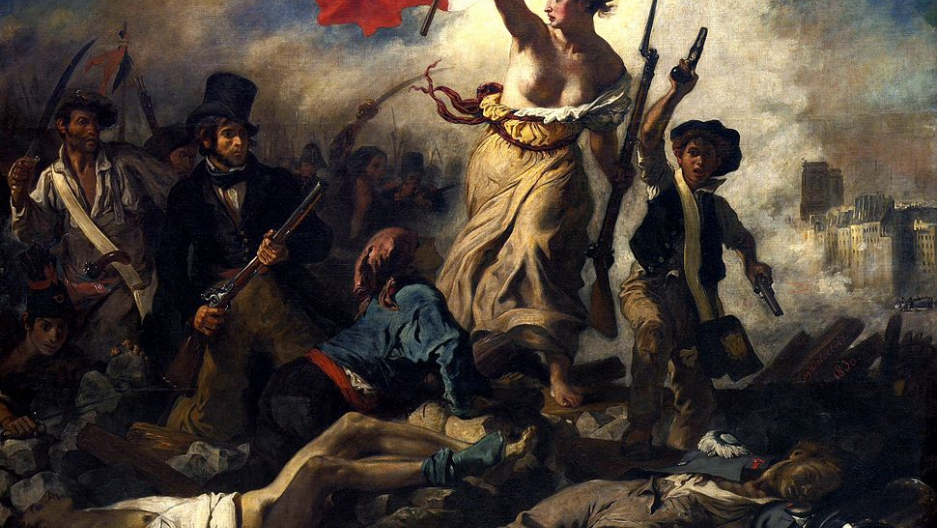 Liberty Leading The People An 1830 Painting By French Artist Eugene Delacroix Was Recently Defaced Unstable Woman In City Of Lens