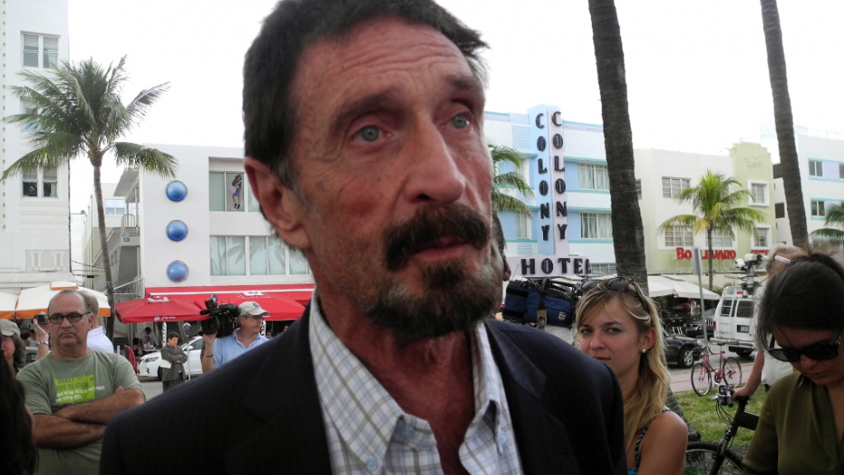 As if his life wasn't insane enough, John McAfee's home in