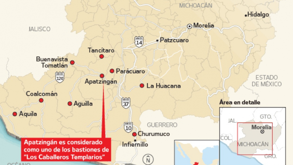 This Map Could Mean Militia Mayhem For Mexico Public Radio - Michoacan mexico map