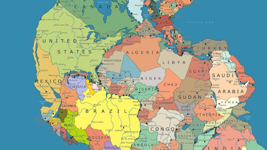 This is where your country would be if Pangea existed today ... Geopolitical Map Of Jerusalem on us and north america map, world map, africa map, historical map, east and southeast asia map, data visualization map, geographic map, topological map, geographical map, cartography map, tierra del fuego map, history map, political map, present day map,