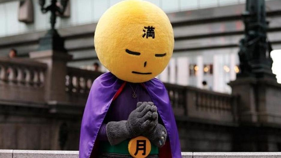Japan's real-life superhero, Mangetsu-man, is literally