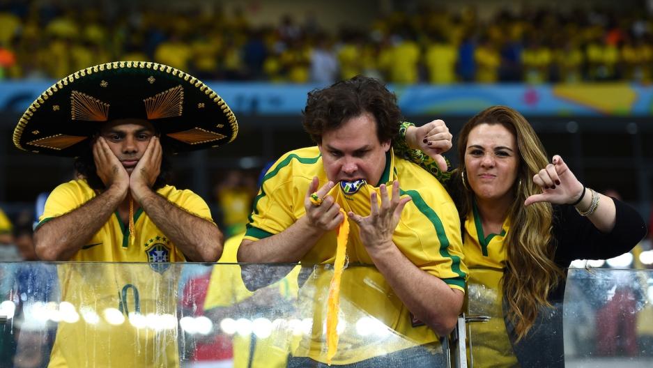 Brazil sad World Cup fans.