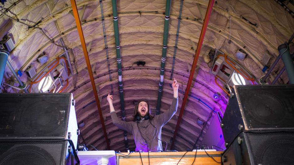 DJ at Kyiv, Ukraine festival