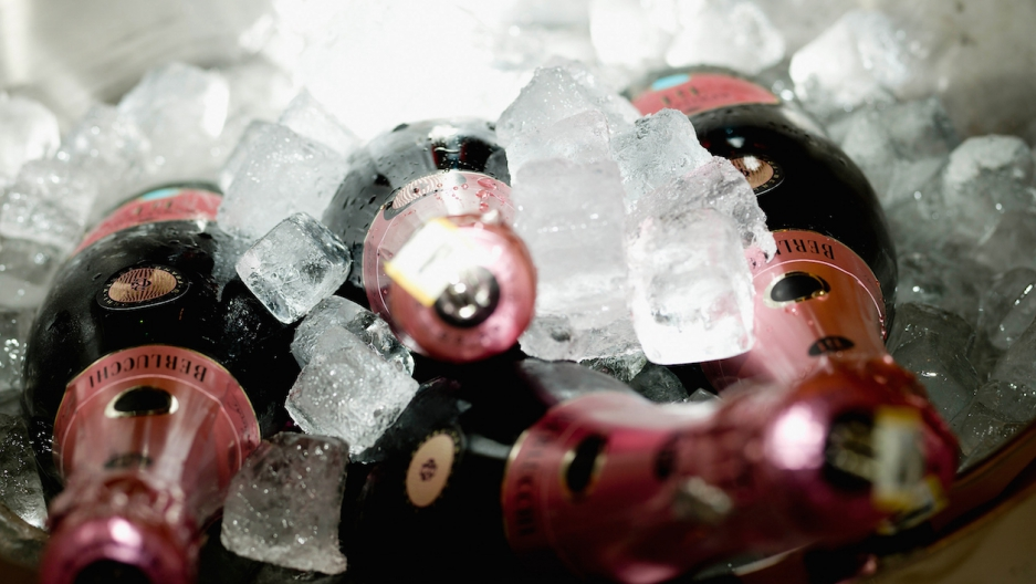 Champagne on ice.