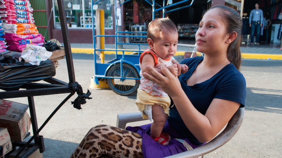 Nicaraguan mother and baby