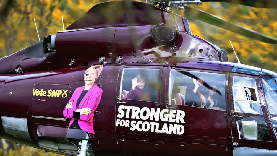 Scottish National Party helicopter