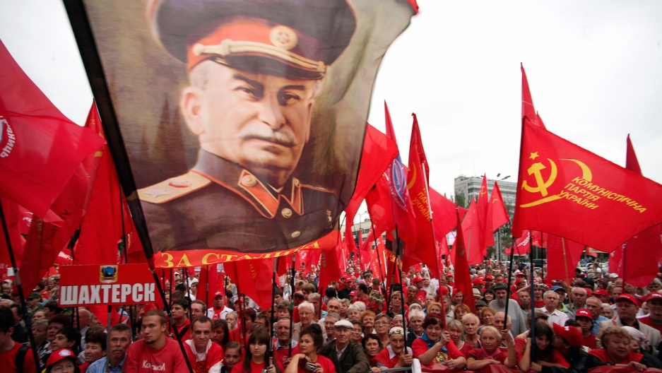 Stalin Communist rally