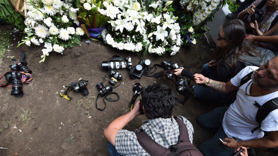 Cameras at Mexican photographer's grave
