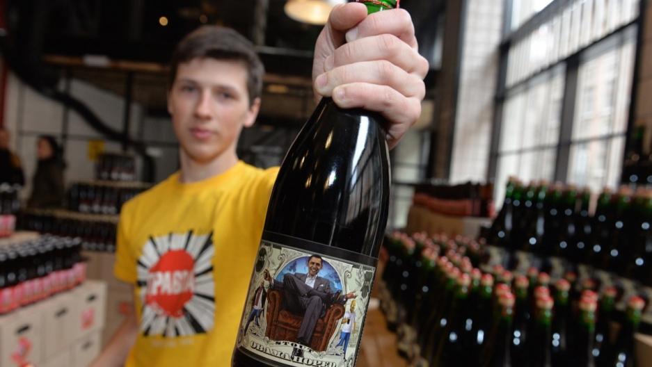 Ukraine Obama beer