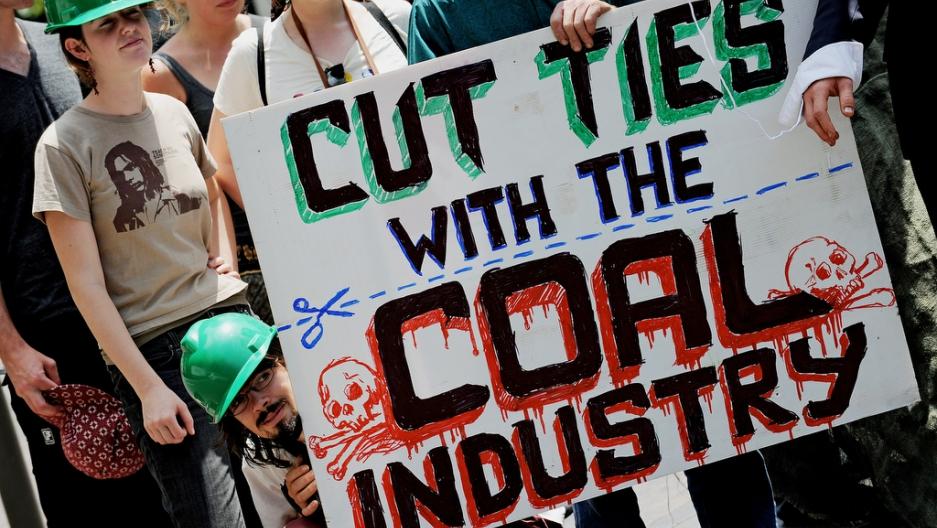 Anti-coal activists protest in Sydney, Australia, on Nov. 26, 2009.