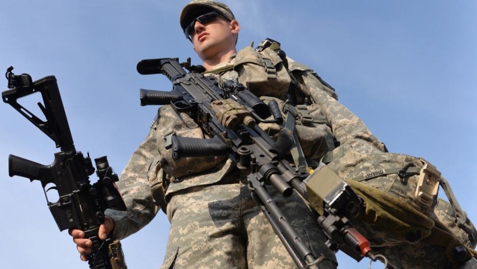 US soldier in Ukraine