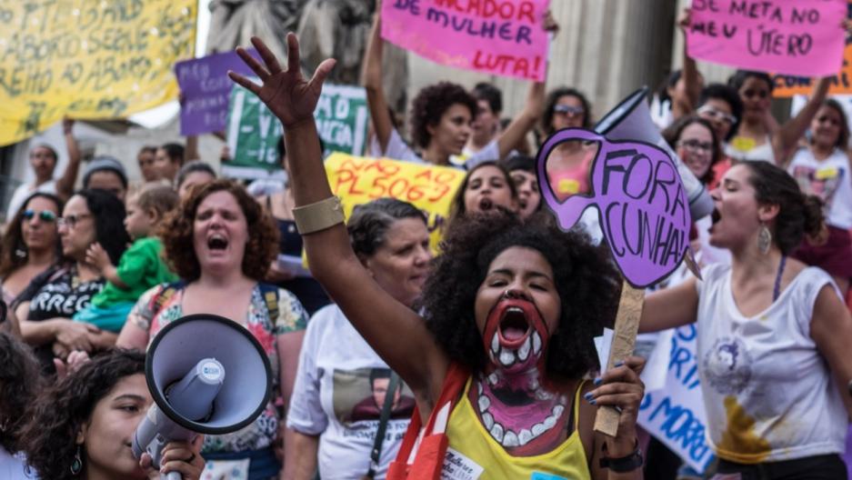 Rio, Brazil women's protest
