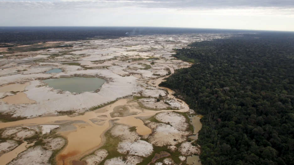 Amazon deforestation for mining