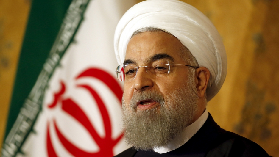 Iranian President Hassan Rouhani attends a news conference in Rome, Italy, on Jan. 27, 2016.