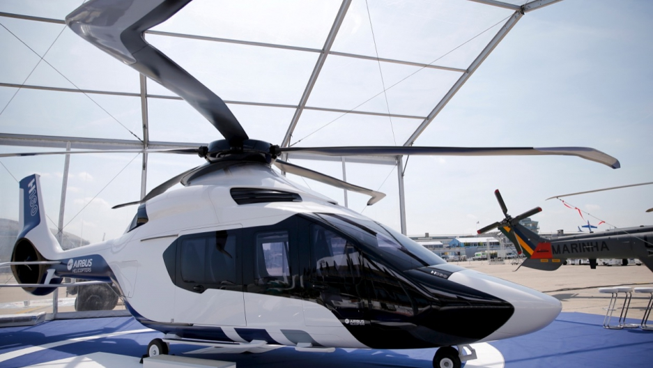 An H160 Prototype Of Airbus Helicopters Displayed For The 51st Paris Air Show At Le Bourget Airport Near June 13 2015