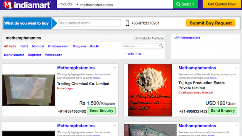 Dealers are using India's version of Amazon to sell meth, ecstasy