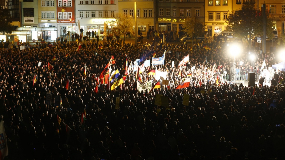 Germany far right protest