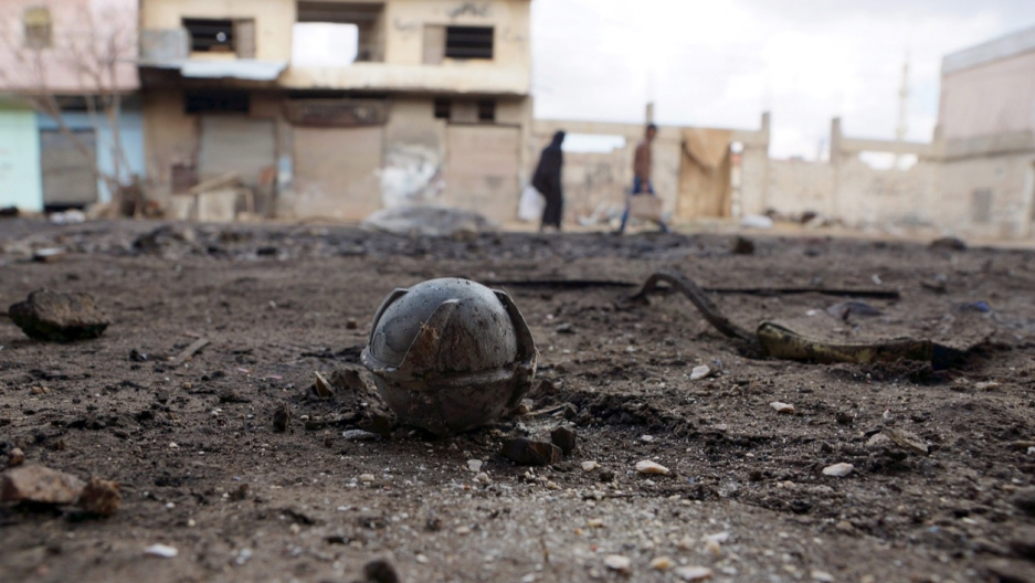 A cluster bomb in Syria