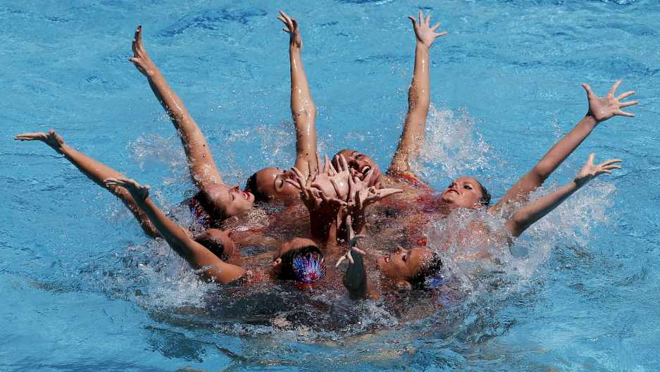 Brazil synchronized swimming