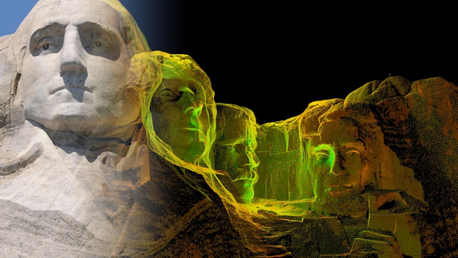 Laser scan in CyArk's archive from field work done at Mount Rushmore in the US.