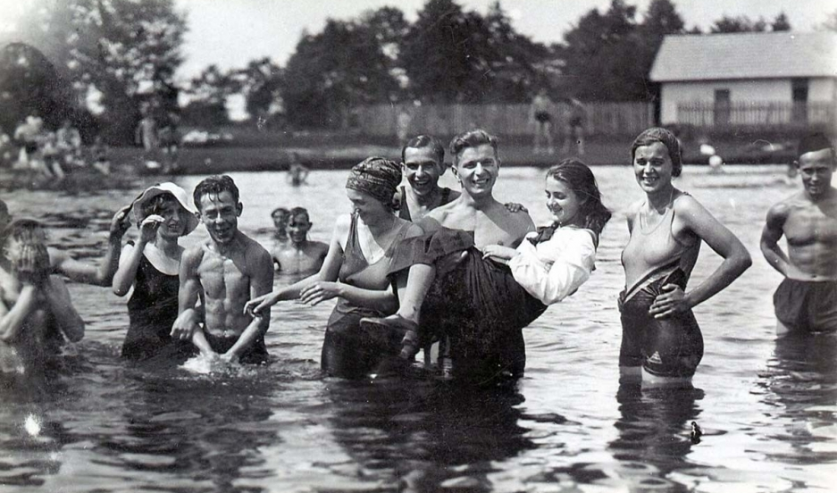 My Ukraine: Memory and Identity  Maria being held above the water, Brody, 1936