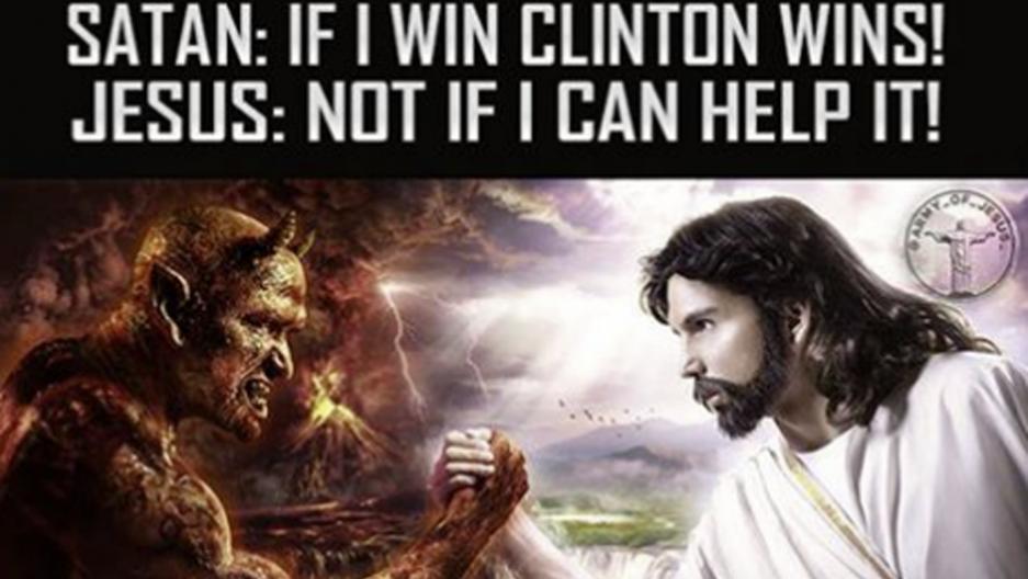 russian meme satan jesus