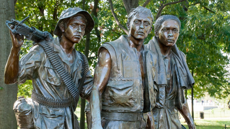 The Three Soldiers – Vietnam Veteran's Memorial in Washington DC, from Shutterstock
