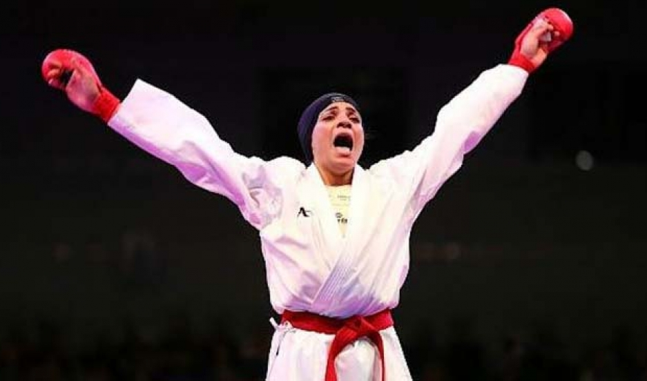 Shymaa Abou el-Yazed is the world champion and captain of the Egyptian karate team.