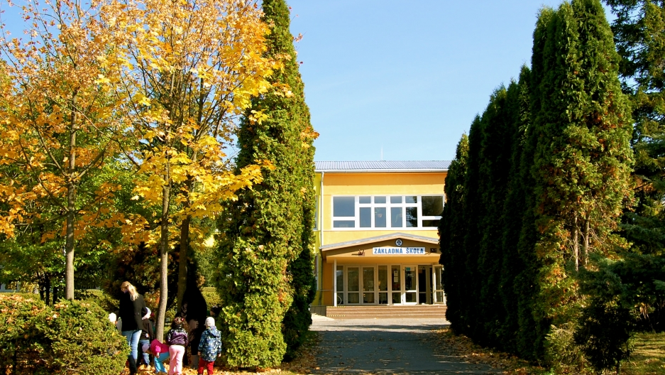 The school in Šarišské Michaľany at the center of a court case to desegregate Roma and non-Roma students.