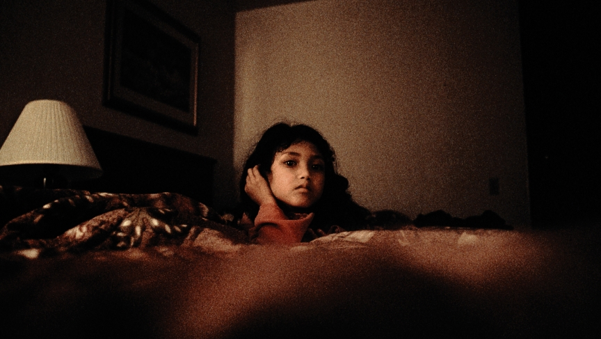 A Bhutanese refugee in a Los Angeles hotel, shortly after arriving to the United States in August 2008.