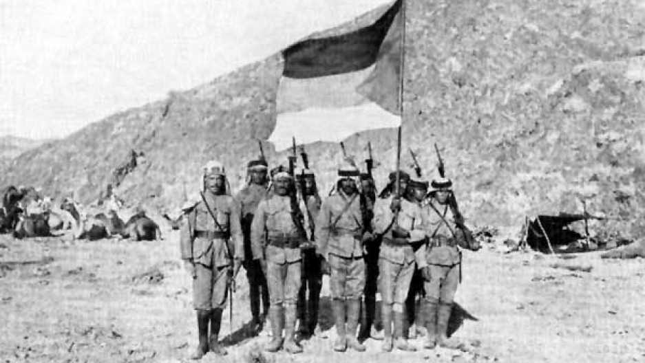 Uniformed and disciplined troops of the Arab Revolt, 1916-1918