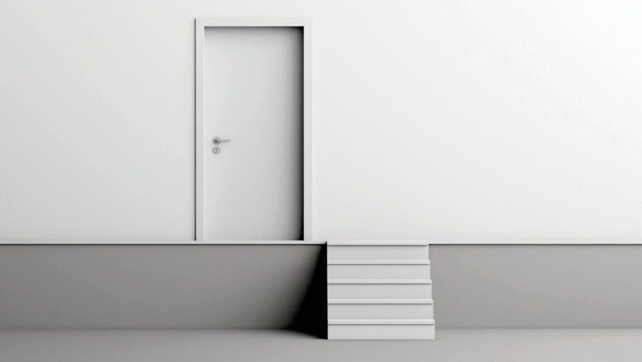 Katerina Kamprani's door step