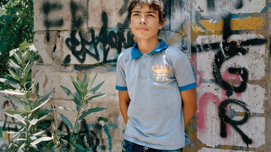14-year-old Mohammad/Khaled in Beirut, 2014.