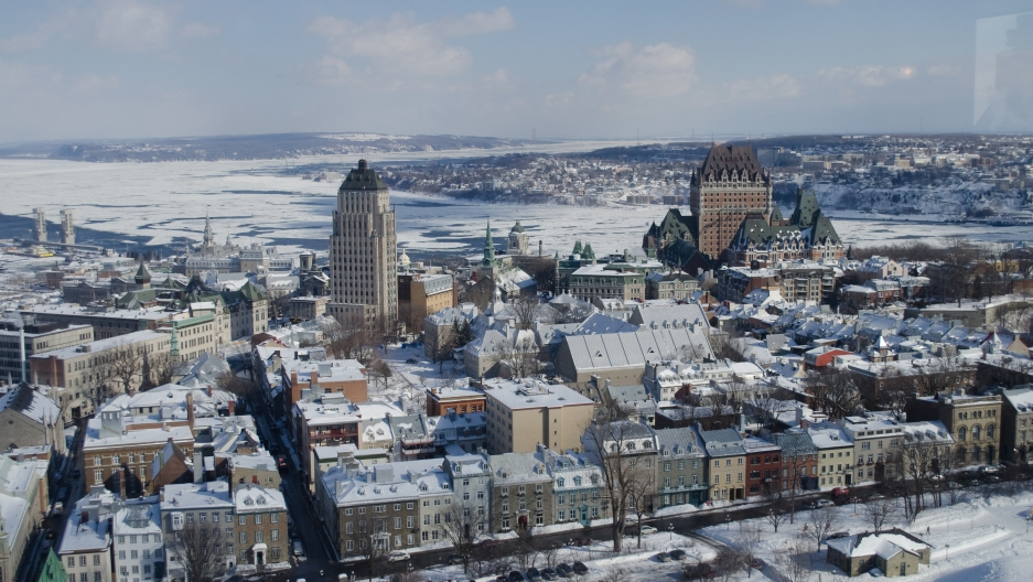 Quebec City's historic walled district. The city is one of the coldest urban areas in North America.